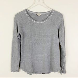 LUCKY BRAND Small Thermal Long Sleeve Top